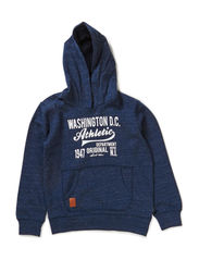 KRISTOFFER KIDS SWEAT W HOOD 414 - Dress Blues