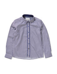 OSMUND KIDS LS SHIRT LMTD 6 X-AU14 - Dark Denim