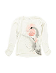 DAHEART KIDS LS SLIM TOP 115 - Cloud Dancer