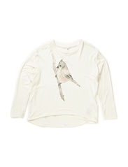 EMAI KIDS LS OVERSIZE TOP LMTD 1 X-SP15 - Cloud Dancer