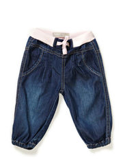 DYANNE NB SO DNM BAG PANT R 115 - Dark Blue Denim