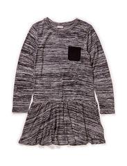 ENSALT KIDS LS DRESS 115 - Grey Melange