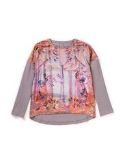 ELFUNK KIDS LS OVERSIZE TOP 115 - Silver Filigree
