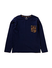 ELMO KIDS LS V-NECK TOP 115 - Dress Blues