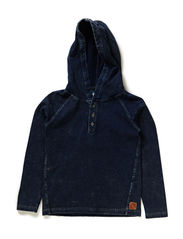 EVIN KIDS LS TOP W HOOD LMTD1  X- SP15 - Dark Denim