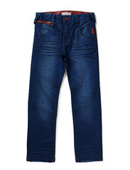 CASIL RED DNM KIDS SLIM/SLIM PANT NOOS - Medium Blue Denim