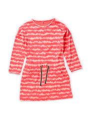 FODILEA MINI LS DRESS 115 - Calypso Coral