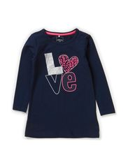 JISBETH MINI LS TUNIC X-AU14 - Dress Blues