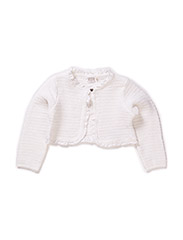 GIMBA MINI LS KNIT BOLERO 215 - Bright White