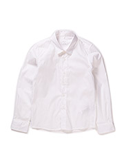 GAKS KIDS LS SLIM SHIRT 215 - Bright White