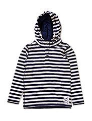 GORDON KIDS LS TOP W HOOD 215 - Dress Blues