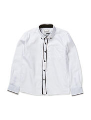 OSMUND KIDS LS SHIRT LMTD SOLID6 X-AU14 - Bright White