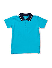 VALLE KIDS SS POLO SOL MAR 215 - River Blue