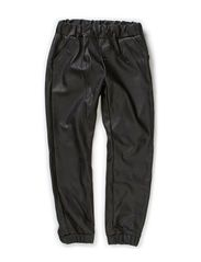 ONDINE KIDS FAKE LEATHER PANT X-AU14 - Black
