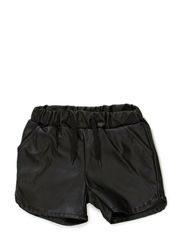 ONDINE KIDS FAKE LEATHER SHORTS X-AU14 - Black