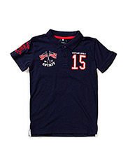 KINGS KIDS SS SLIM POLO BOY 215 - Dress Blues