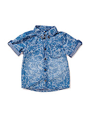HENRY MINI SS SHIRT 215 - DRESS BLUES