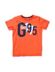 ESMUS KIDS SS TOP BOX 115 - Hot Coral
