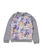 OSANA KIDS LS SWEAT X-AU14 - Grey Melange