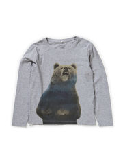 OZIE KIDS LS TOP X-AU14 - Grey Melange