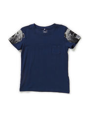 OKAL KIDS SS TOP X-AU14 - Dress Blues