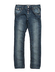 NITTHOR SLIM/XSL DNM PANT NMT NOOS - MEDIUM BLUE DENIM