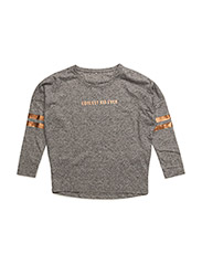 NITLANNIE LS TOP NMT - GREY MELANGE