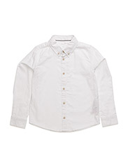 NITOXFORD LS SHIRT NMT - BRIGHT WHITE