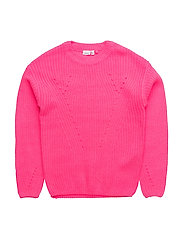 NITDINEON LS KNIT ONECK NMT - KNOCKOUT PINK