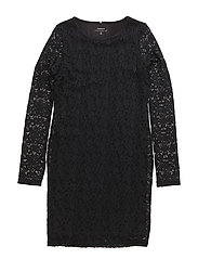 NITPEDRA LS SLIM DRESS NMT - BLACK