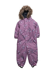 NITPOWDER SNOWSUIT AOP SOFT MZ G FO - PRUNE PURPLE