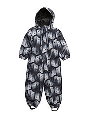 NITSTORM SNOWSUIT AOP ONE ZIP MZ FO - BLACK