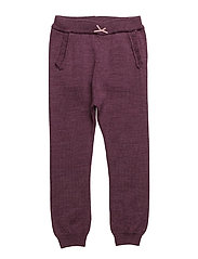 NITWHOOPIMIX WOOL KNIT PANT G MINI - PRUNE PURPLE