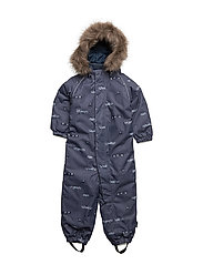 NITPOWDER SNOWSUIT AOP SOFT MZ B FO - DRESS BLUES
