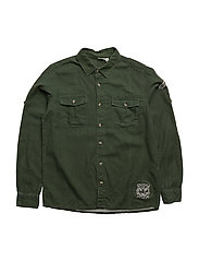 NITKASH LS SHIRT M NMT - KOMBU GREEN