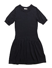 NITKLASSI SS KNIT DRESS F NMT - SKY CAPTAIN