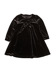NITFIRIKKE LS VEL DRESS F MINI - BLACK