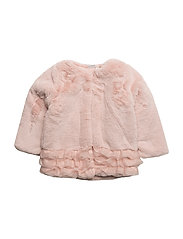 NITFUR LS FAKE FUR JACKET F MINI - EVENING SAND