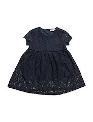 NITETLACE SS DRESS WL F MINI - DRESS BLUES