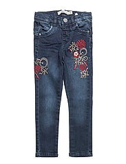 NITBATILDE SKINNY DNM PANT W ART F MINI - DARK BLUE DENIM