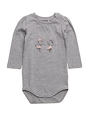 NITETBELLA LS BODY F NB - GREY MELANGE