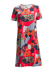 Ladies short leisure dress, Puistola - red
