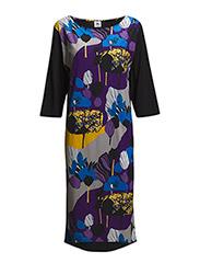 Ladies long leisure dress, Puistola - BLUE
