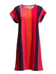 Ladies short leisure dress, Asema - red