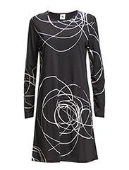 Ladies short leisure dress, Lumous - black