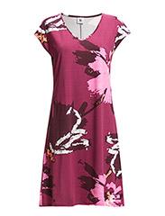 Ladies short leisure dress, Nocturne - red