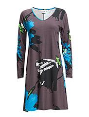 Ladies short leisure dress, Nocturne - grey
