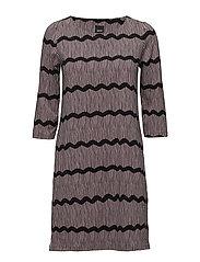 Ladies dress, Laineet - BLACK