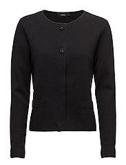 Ladies knit jacket, Milano - BLACK