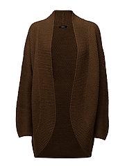 Ladies knit cardigan, Tuttu - BROWN